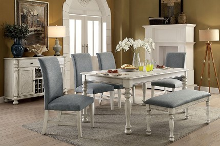 SIOBHAN 7PCS DINING SET TABLE + 6 SIDE CHAIRS