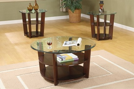 POUNDEX 3PC SET TABLE, 1COFFEE TABLE+2END TABLES, F3108