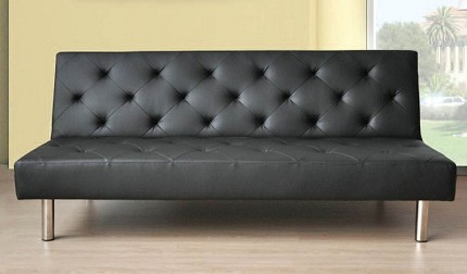 ACME, ADJUSTABLE SOFA BLACK PU, 57006