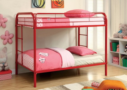 TWIN/TWIN METAL BUNK BED RED