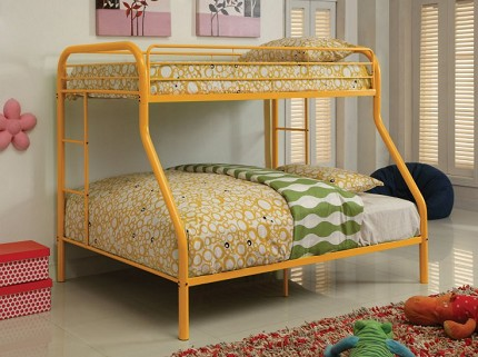 FURNITURE OF AMERICA, RAINBOW TWIN/FULL METAL BUNK BED, CM-BK1033-OR