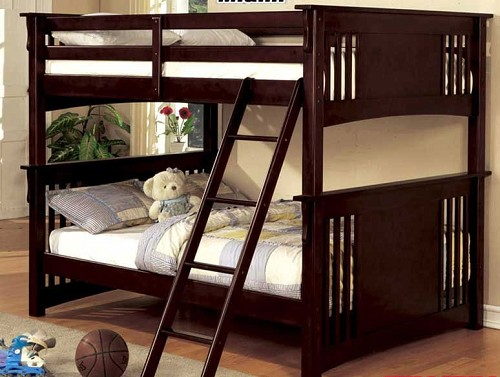 FURNITURE OF AMERICA SPRING CREEK FULL/FULL BUNK BED ESPRESSO, CM-BK603EXP