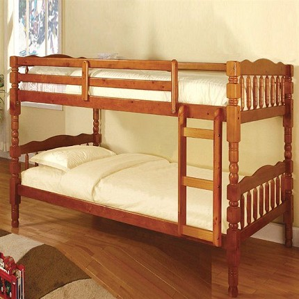 CATALINA TWIN/TWIN BUNK BED HONEY OAK FINISH