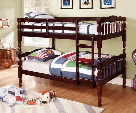 FURNITURE OF AMERICA CATALINA TWIN/TWIN BUNK BED ESPRESSO FINISH, CM-BK606EX