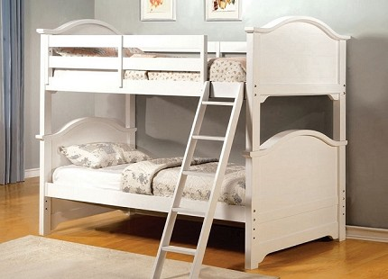 CHESAPEAKE TWIN TWIN BUNK BED WHITE FINISH