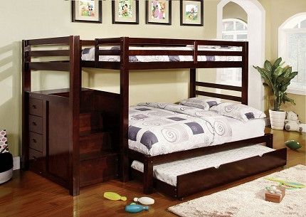 PINE RIDGE TWIN/FULL BUNK BED + 4 DRAWERS
