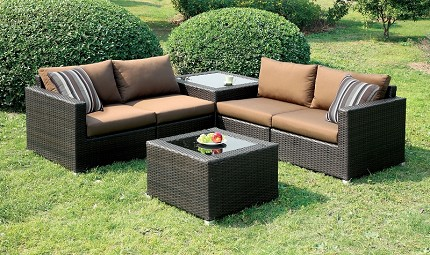 PATIO SECTIONAL BROWN