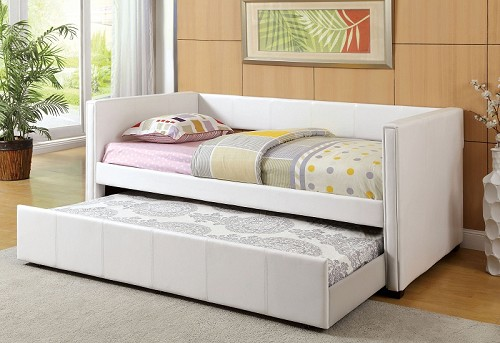 FURNITURE OF AMEICA, CADIZ WHITE DAYBED + TWIN TRUNDLE, CM1955WH