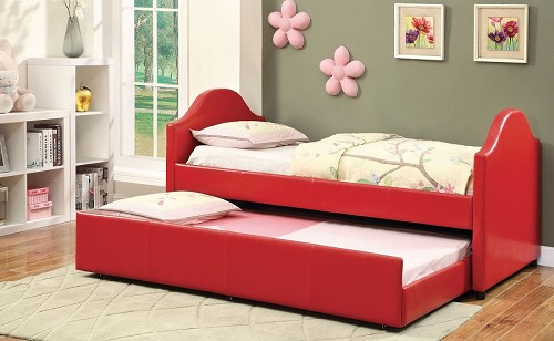 FURNITURE OF AMERICA, CRESSON RED DAYBED + TWIN  TRUNDLE, CM1959RD