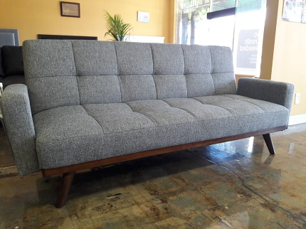 FURNITURE OF AMERICA, NETTIE SOFA FUTON GRAY, CM2605