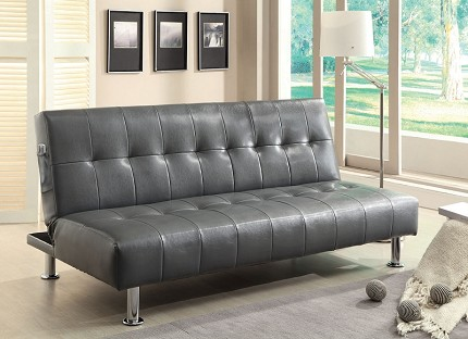 FURNITURE OF AMERICA, BULLE FUTON SOFA WITH SIDE POCKET, CM2669P-GY