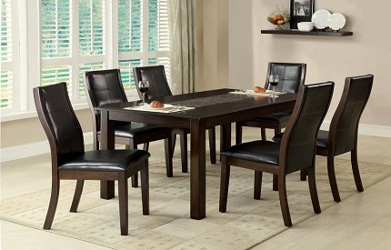 TOWNSEND I 7 PCS DINETTE SET , TABLE + 6  CHAIRS