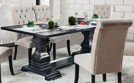 FURNITURE OF AMERICA, NERISSA 9PCS FORMAL DINING SET, CM3840T