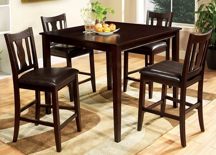 FURNITURE OF AMERICA, NORTHVALE II 5 PCS COUNTER HEIGHT TABLE SET, CM3916PT-5PK