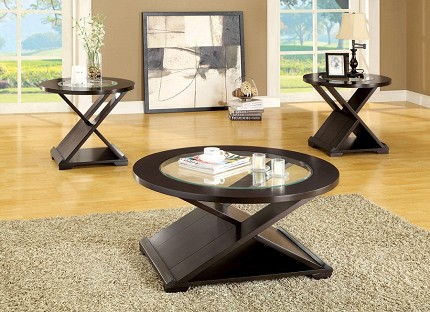 FURNITURE OF AMERICA, ORBE 3 PCS SET TABLES, 1 COFFEE TABLE+2 END TABLES, CM4006