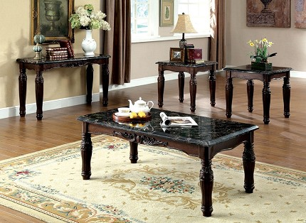 BRAMPTON 3 PCS SET TABLES, 1 COFFEE TABLE+2 END TABLES