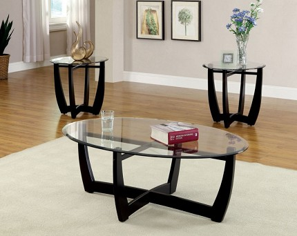 FURNITURE OF AMERICA, 3PCS SET TABLES, 1 COFFEE TABLE + 2 END TABLES, CM4848-3PK,