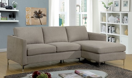 BRAND NEW SECTIONAL GRAY FABRIC