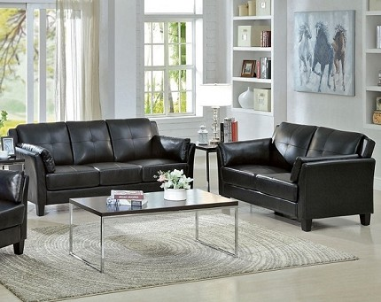 FURNITURE OF AMERICA, PIERRE 2PCS SOFA  SET , CM6717BK