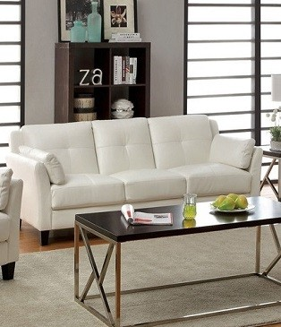 FURNITURE OF AMERICA, PIERRE  SOFA  WHITE, CM6717WH-SF