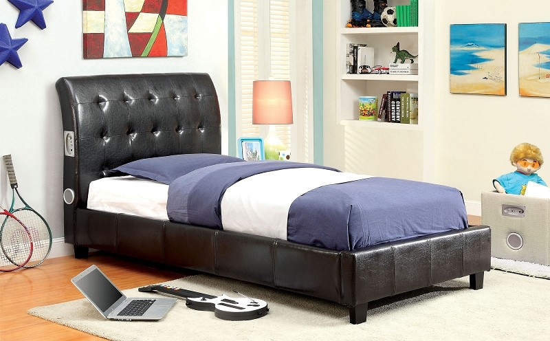 Twin Bed With Bluetooth Speakers