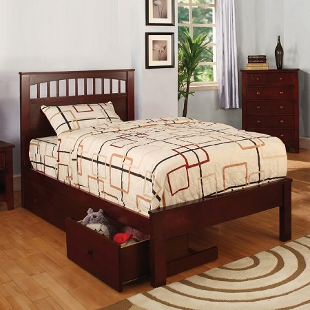 FURNITURE OF AMERICA, CARUS TWIN BED WITH 3 DRAWERS, CM7904CH-T