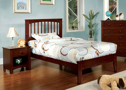 PINE BROOK TWIN BED CHERRY FINISH