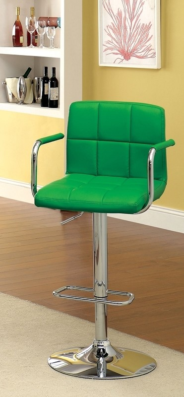 FURNITURE OF AMERICA, SWIVEL BAR STOOL WITH ARMREST, CM-BR6917GR