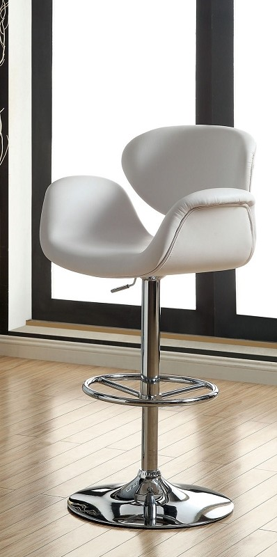 FURNITURE OF AMERICA, SWIVEL BAR STOOL, CM-BR6918WH