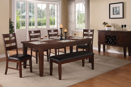 6PCS DINING TABLE +4CHAIRS+1BENCH