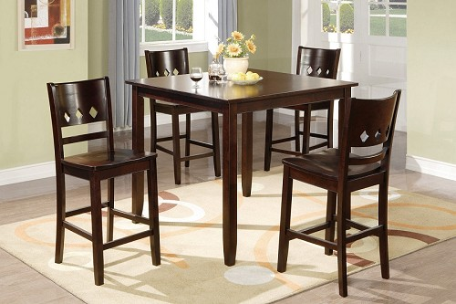 POUNDEX 5PC DINETTE SET, TABLE+4 CHAIRS, F2243