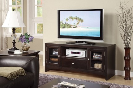 POUNDEX TV STAND DARK BROWN, F4519