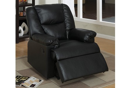 RECLINER BLACK BONDED LEATHER