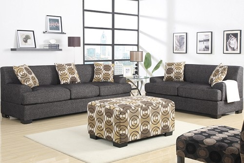 POUNDEX SOFA + LOVE SEAT+ 5 PILLOWS (OTTOMAN SOLD SEPARATELY)