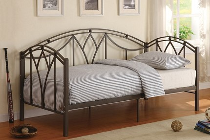 POUNDEX TWIN DAY BED BLACK METAL FINISH, F9082