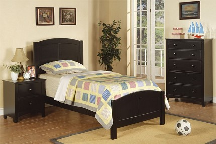 POUNDEX TWIN BED BLACK, F9208