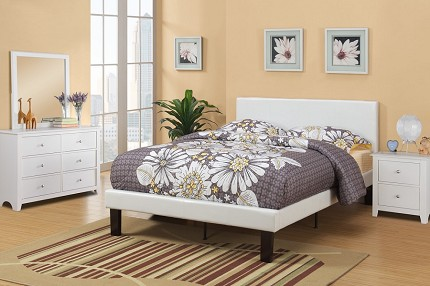 POUNDEX TWIN BED  FAUX LEATHER, F9210T