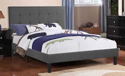 POUNDEX, QUEEN BED FRAME CHARCOAL, F9445Q