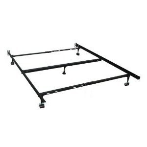 furniture of america adjustable twinfullqueen metal bed frame mt fram tfq - Queen Metal Bed Frames