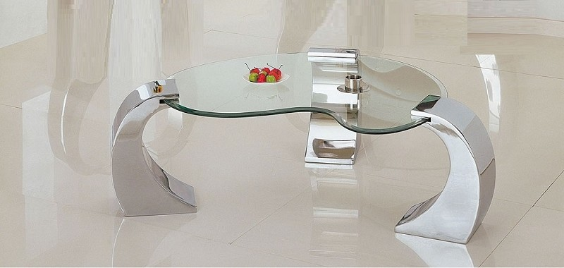 ACME, COFFEE TABLE CHROME PLATED, 07570