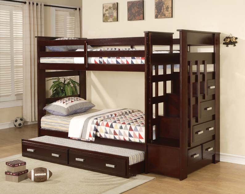 ASIA DIRECT TWIN TWIN BUNKBED+STEP STORAGE+TRUNDLE, 868