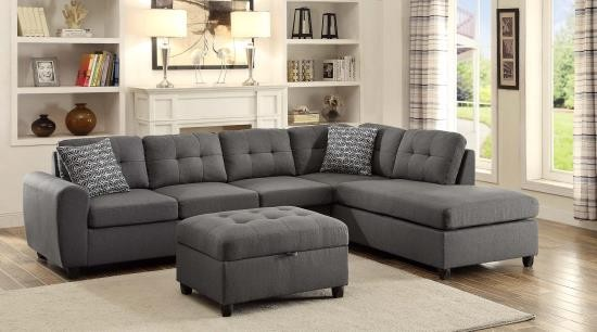 COASTER, STONENESSE, GRAY SECTIONAL, 500413