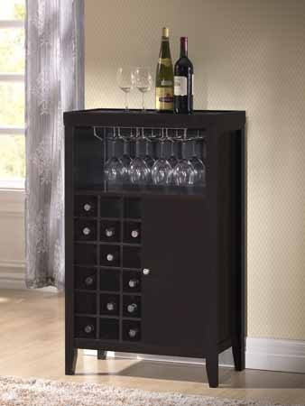 ASIA DIRECT, WINE CABINET DARK ESPRESSO, 5723