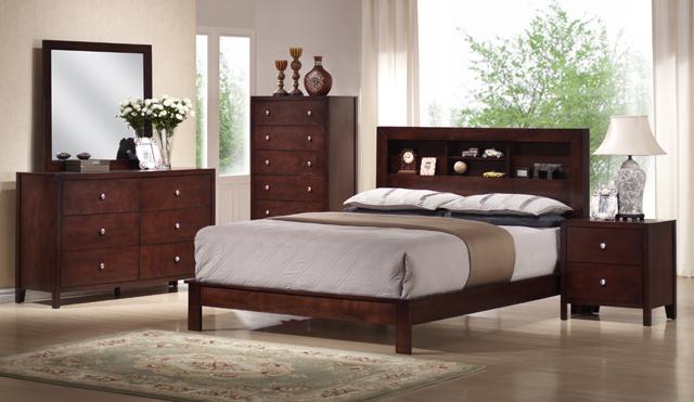 Asia Direct Alex Bedroom Set Queen Size Bed Dresser Mirror 1night Stand 8050
