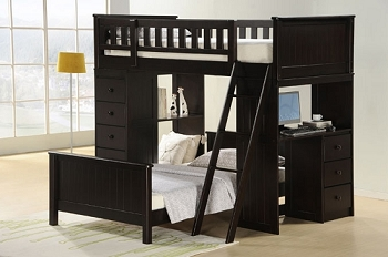 ASIA DIRECT,TWIN/TWIN LOFT BED, 810-BK