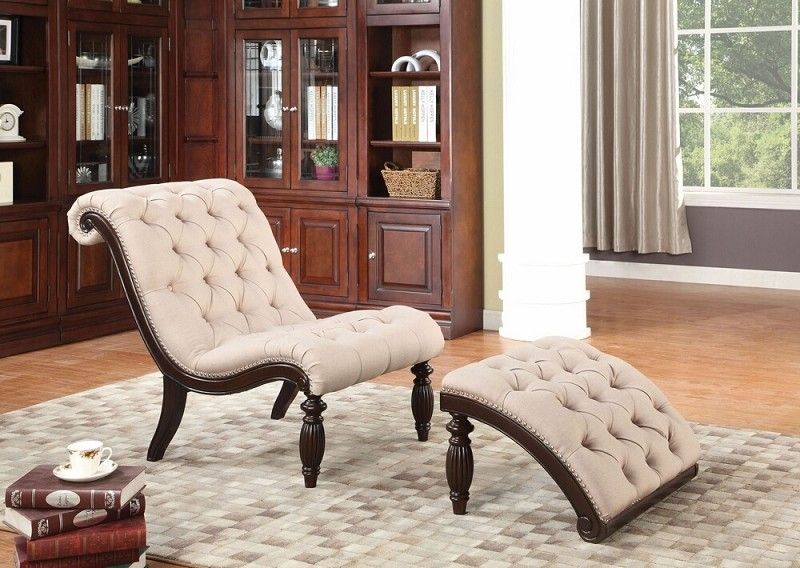 ACME, 2 PCS PACK CHAIR AND OTTOMAN, AC-96200