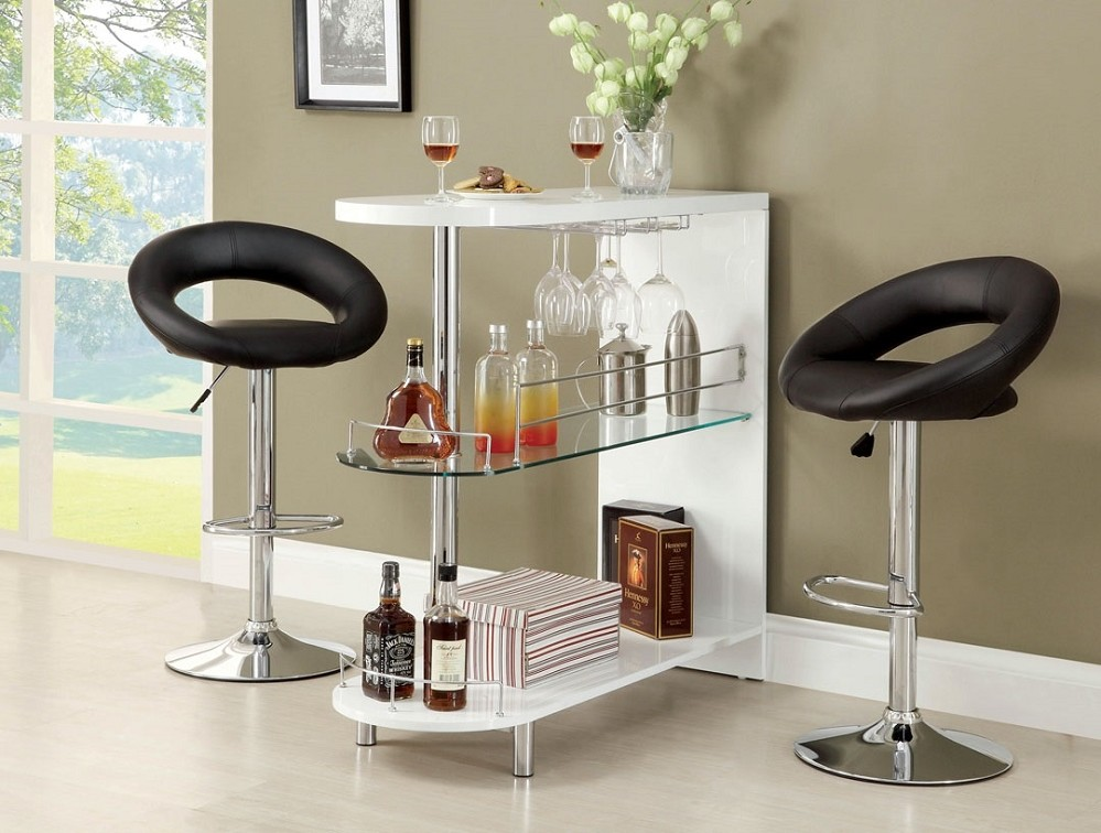 NUMBI BAR TABLE LACQUER MINI SERVER (STOOL SOLD SEPARATELY)