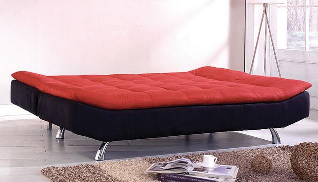 Adjule Futon Sofa Red Black