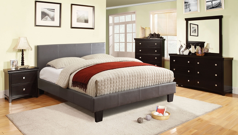 GRAY QUEEN BED, CM7008GY-Q