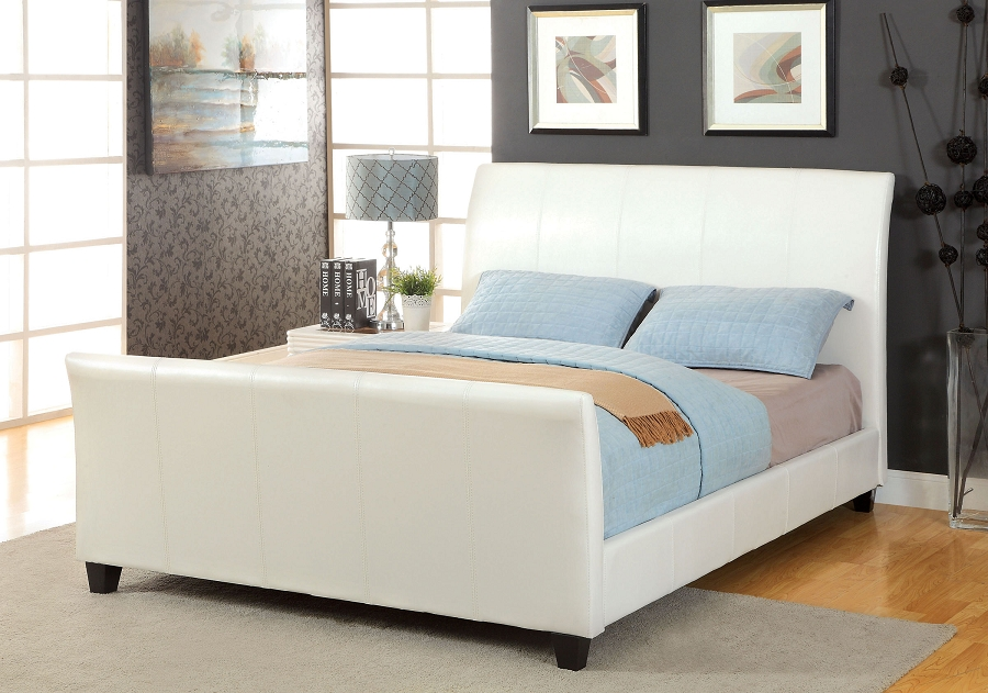 QUEEN BED WHITE